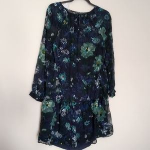Loft Winter Garden Flounce Dress NWT